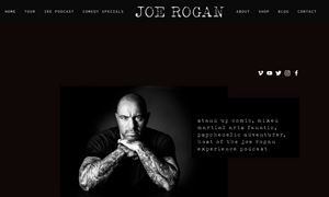 squarespace joe rogan website