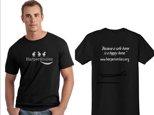 Black and Gray HarperSmiles Logo Tee