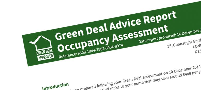 Green Deal Advice Report