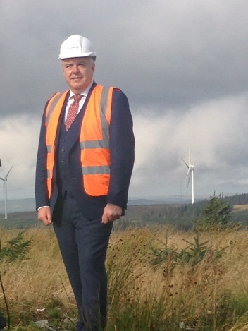 First minister Carwyn Jones was speaking at the opening of Vattenfall's Pen y Cymoedd onshore wind farm, the largest in Wales.