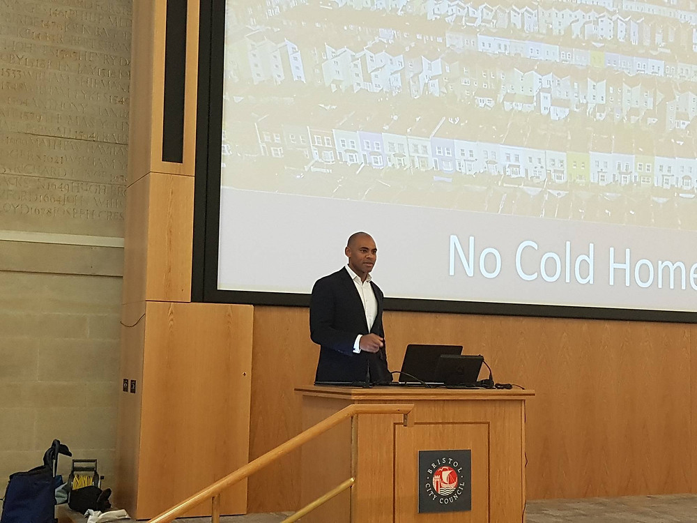 Marvin Rees said the issue is one that is personal to him at the 'No Cold Homes' launch
