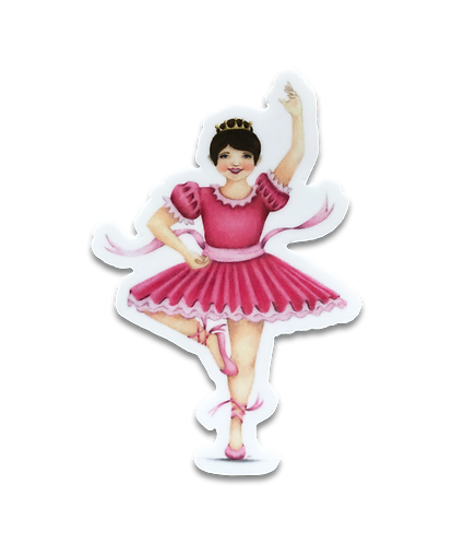 Brunette Ballerina Sticker