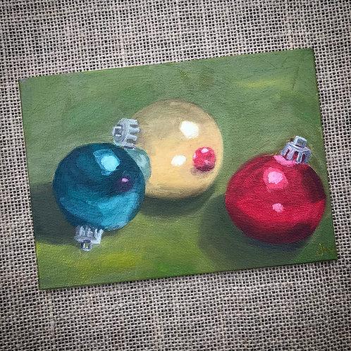 Merry & Bright Original Oil Painting