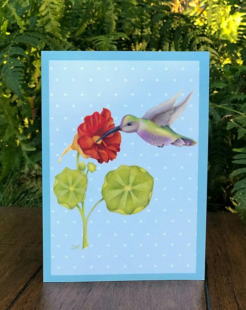 Hummingbird's Dinner Greeting Card