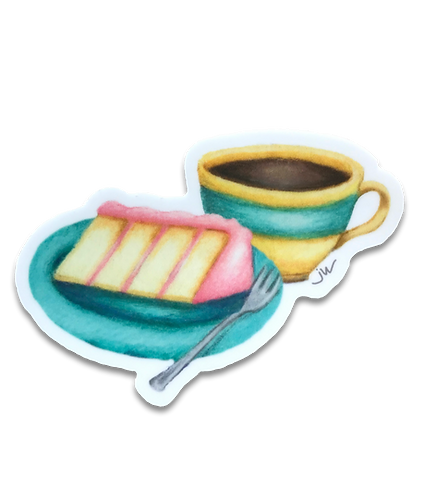 Cake & Coffee Time Sticker
