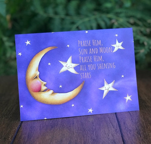 Man in the Moon Greeting Card