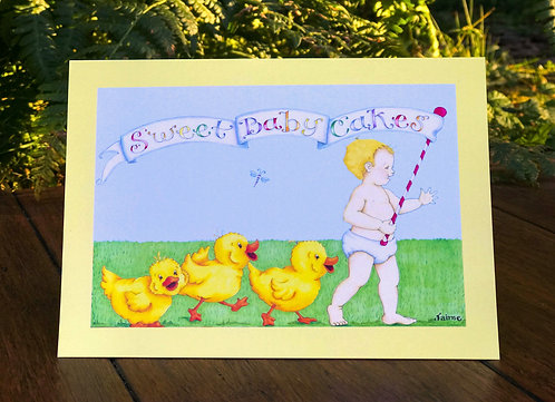 Sweet Baby Cakes Greeting Card