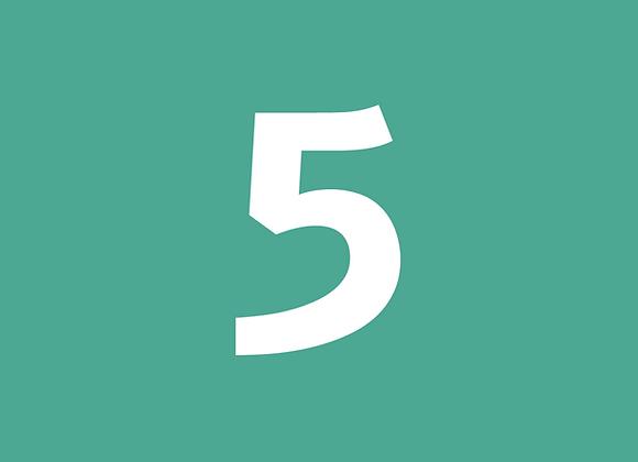 חבילת 5 שיעורים