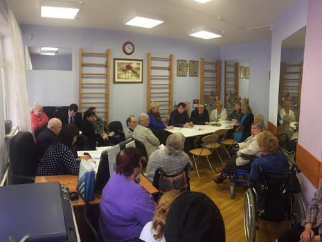 Совещание в доме социального обслуживания населения по адресу Пискаревский проспект, дом 50, корпус