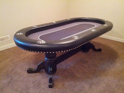 46 by 94 oval poker table