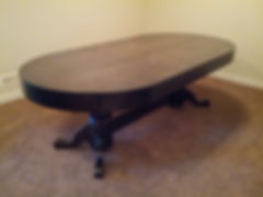48 by 96 oval poker table with dining table cover