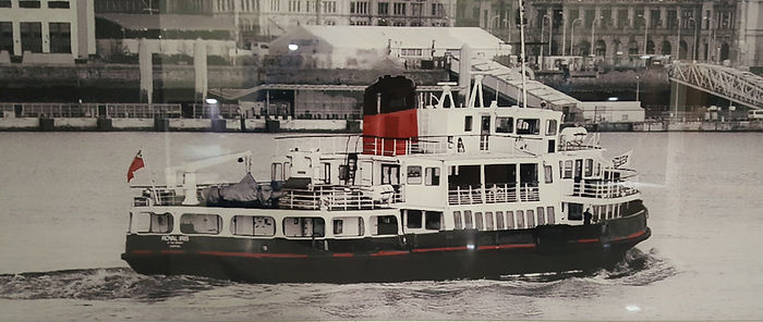 Mersey ferry printed glass splashbacks, Ainsdale, Northwest