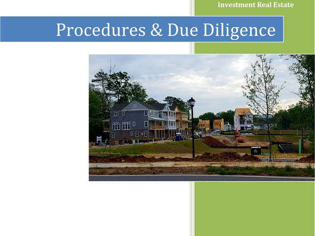 Procedures and Due Diligence