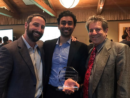 Dr. Deepak Ramesh at UCLA with Dr. Robert Goldberg and Dr. Daniel Rootman