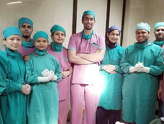 Dr. Deepak Ramesh teaching orbital and eyelid surgery in Nepal