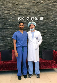 Dr. Deepak Ramesh in Seoul, South Korea, learning Asian double eyelid surgery