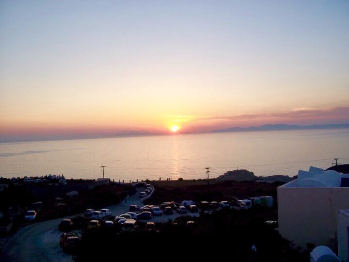The world famous sunset of Oia.