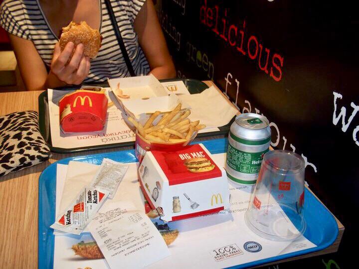McDonald's with a Heineken