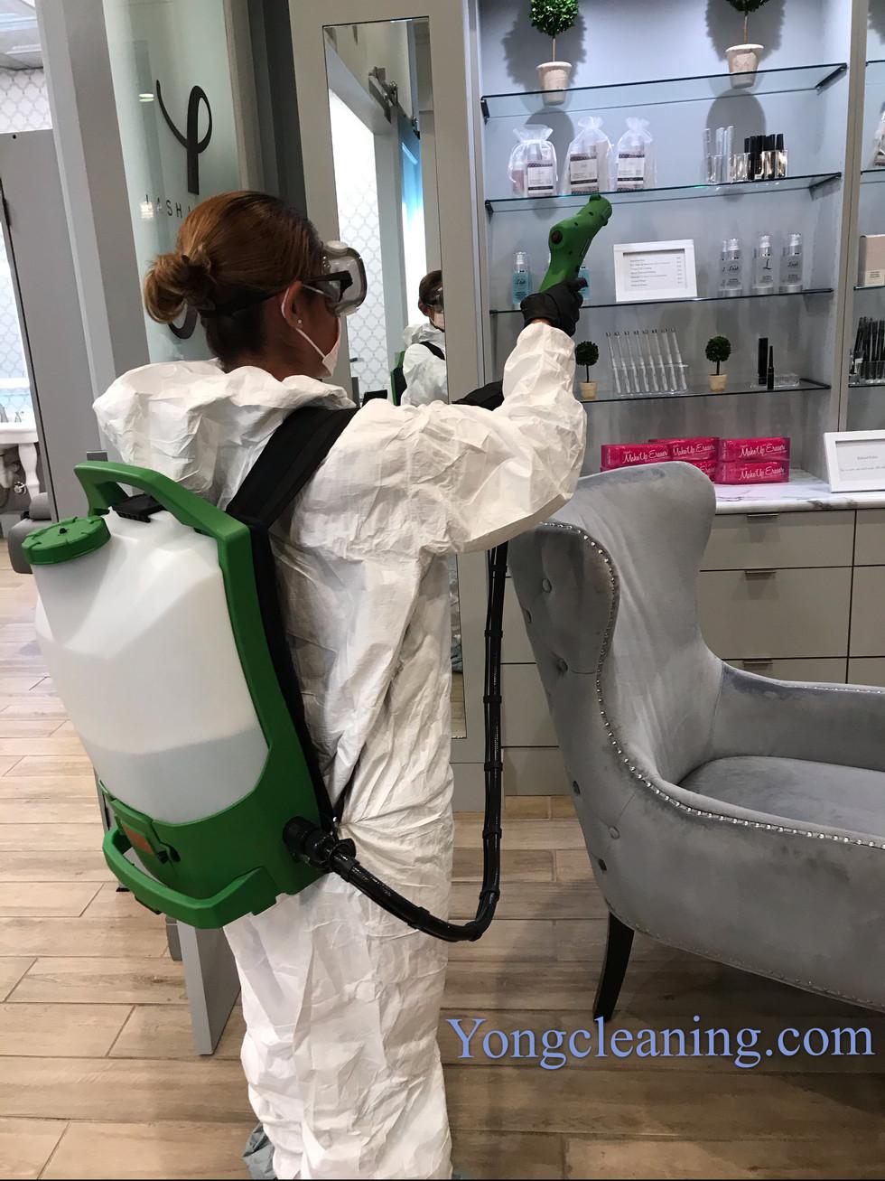 Kills 99.9% Of Bacteria Disinfection Service California