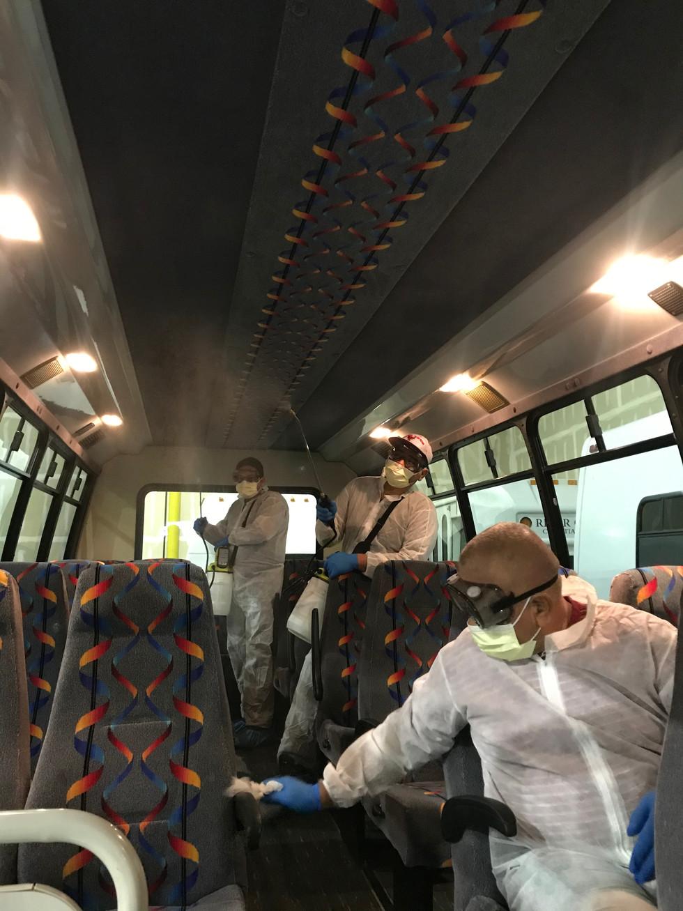 Bus Disinfaction service California
