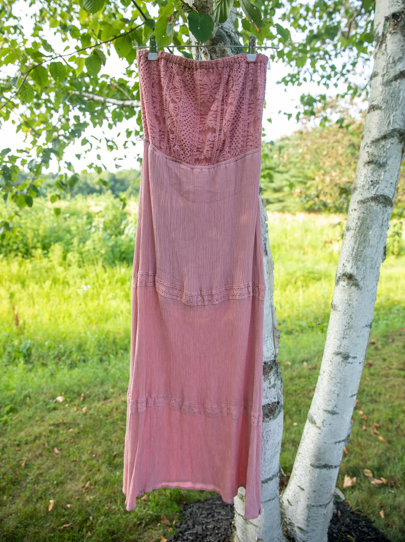 Stella Tweed Pink Maxi Dress