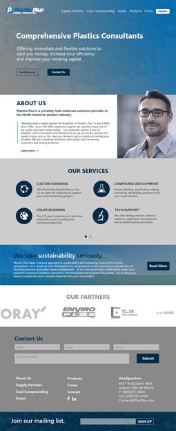 Website Homepage Mockup
