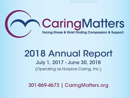 CaringMatters Releases FY 2018 Annual Report