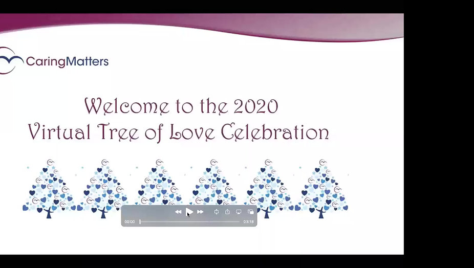 CaringMatters Tree of Love Celebration