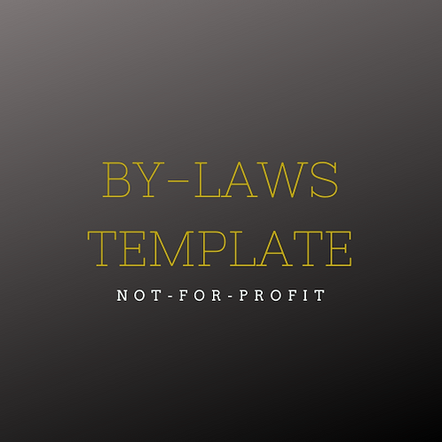 Business - Non-Profit ByLaws (template)