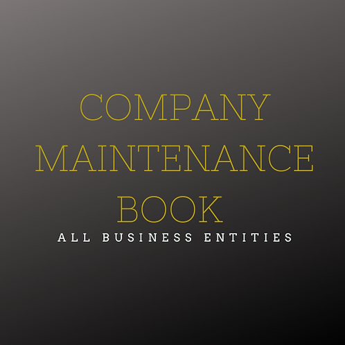 Business Maintenance Record Book