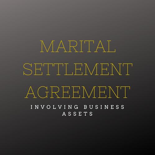 Marital Settlement Agreement (MSA)
