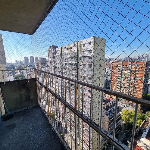 Alquiler depto. de dos ambientes piso 18 al frente vista ciudad y rio
