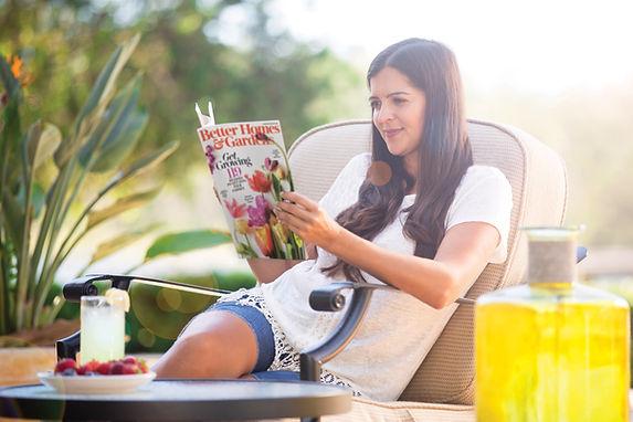 Woman reading BHG Magaazine.jpg