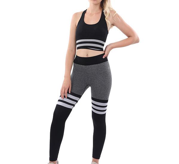 Booji Cassidy Legging & Sports Bra Set in Black & White