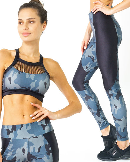 Booji Veloso Supplex Moisture-Resistant Fashion Leggings & Sports Bra Set