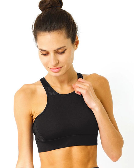 Booji Ashton Sports Bra in Black Tourmaline