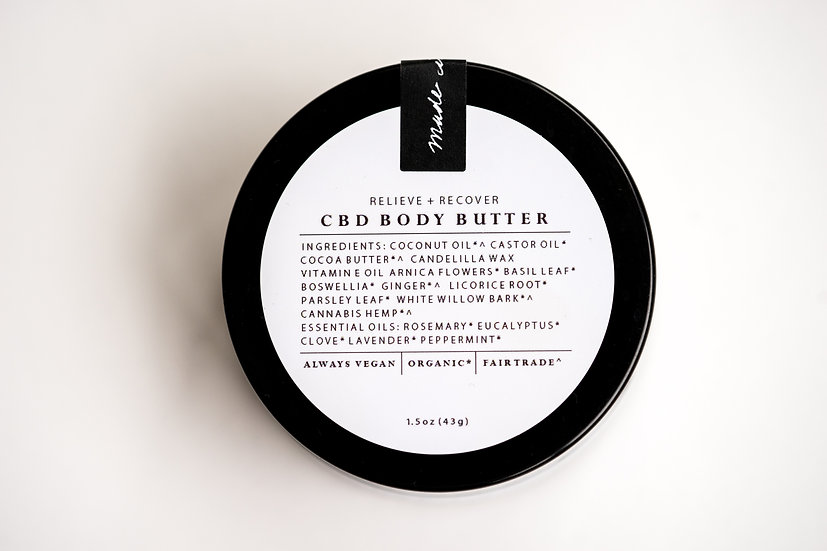 Relieve and Recovery CBD Body Butter