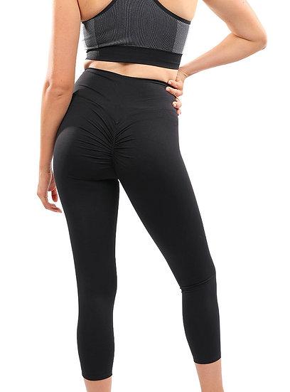 Booji Destiny Butt-Lifting High Waist Push Up Yoga Leggings in Black Tourmaline