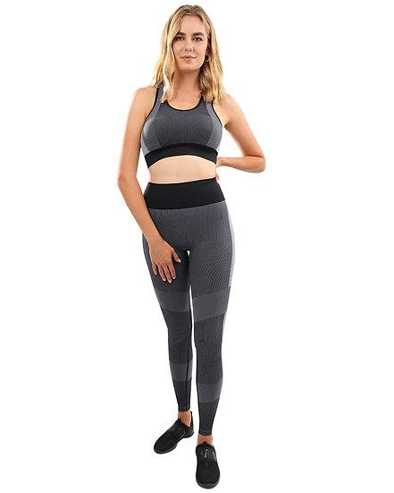 Booji Arleta Seamless Leggings & Sports Bra Set in Black