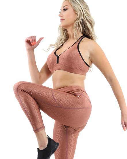 Booji Roma Activewear Leggings in Copper - Made in Italy - Size Small