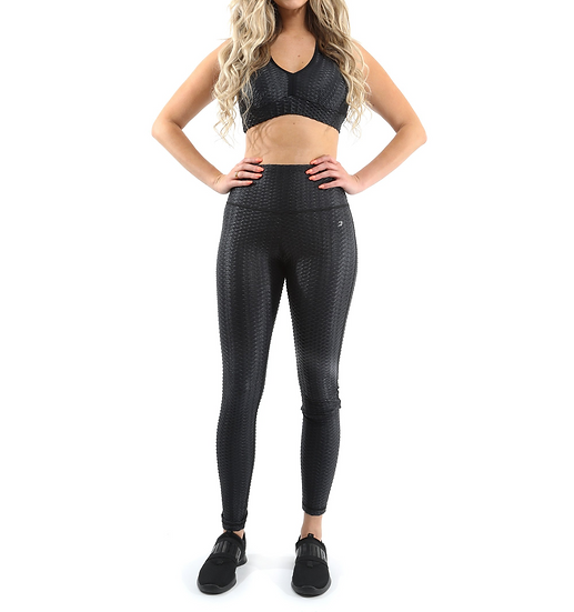 Booji Genova Activewear Set - Leggings & Sports Bra in Black - Made in Italy