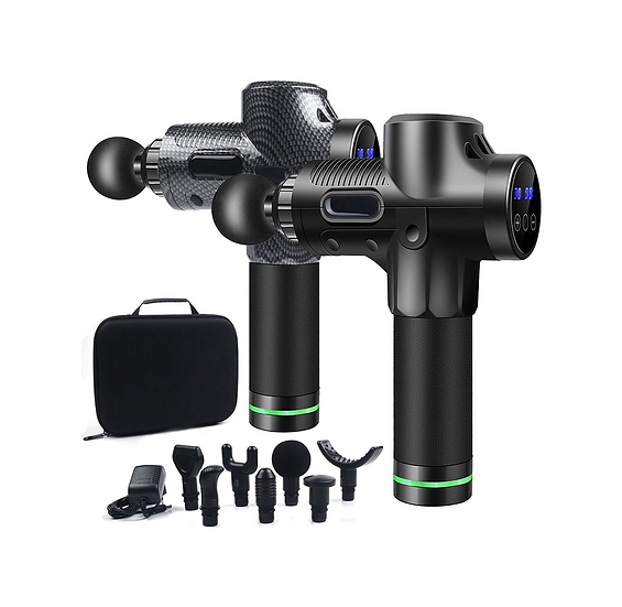 Elite Performance Percussion Therapy Massage Gun with 7 Heads and 30 Speeds