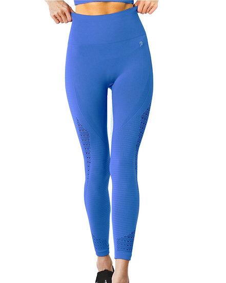 Booji Modarna Mesh Seamless Legging With Ribbing Detail in Blue Agate