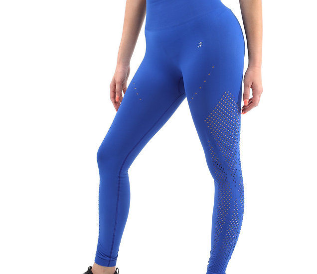 Booji Milano Seamless Legging in Blue - Made in Italy