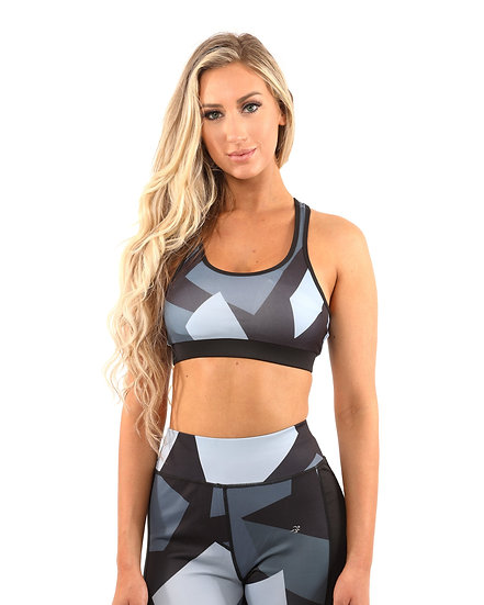 Booji Bondi Sports Bra in Black and Grey
