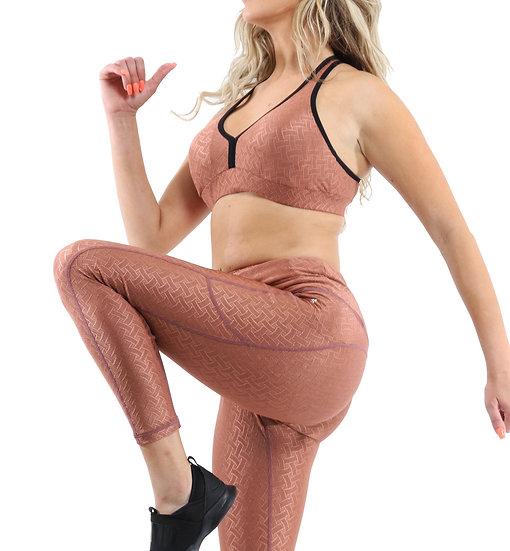 Booji Roma Activewear Set - Leggings & Sports Bra in Copper - Made in Italy