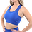 Thumbnail: Booji Milano Seamless Sports Bra in Blue - Made in Italy - Size Small