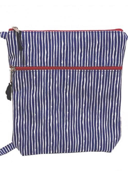 Navy/White Stripe Bag