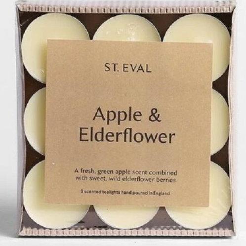 Apple & Elderflower Tealights (Set of 9)