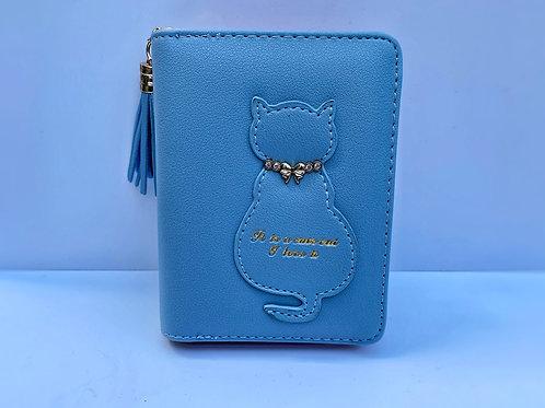 Cat Purse (Light Blue / Pink)